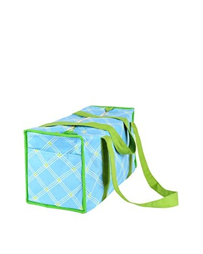 Malabar Bay Window Pane Duffel Bag, Blue