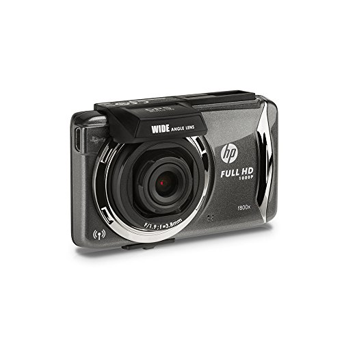 HP f800x FullHD 1080p Car Dash Cam 140Degree GPS, Advance Driver Assistance, Motion & Collision Detection & WDR