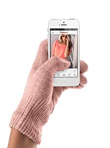 Mujjo Multi-Surface Touchscreen Gloves, iPhone/iPad Gloves, Texting Gloves Size S/M, Coral Pink