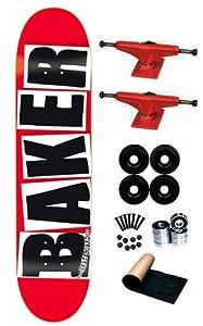 Buy Baker Brand Logo Black Red 7.75 Skateboard Deck Complete by Baker now!