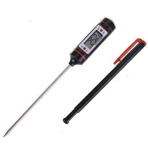 Sodial(R) - Termometro digitale da cucina con sonda, per barbecue, carne, bistecche, tacchino, vino