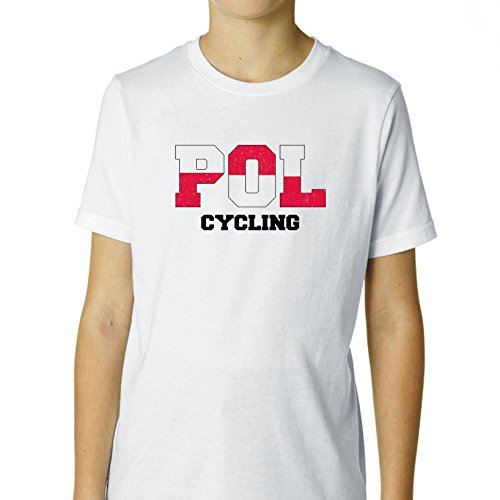Poland Cycling - Olympic Games - Rio - Flag Boy's Cotton Youth T-Shirt (Brother 8610 compare prices)