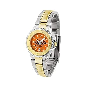 Oklahoma State Cowboys Ladies Stainless Steel and Gold Tone Watch by SunTime