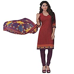 Amazing designs in unstitched Synthetic chudidhar material