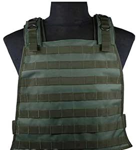 Matrix Tactical Systems MOLLE Ready LBV (Load Bearing Vest) w  Hydration Carrier (OD) by PowerSport