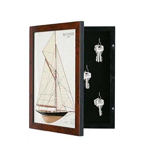 Artesania porte cl s en bois armoire pend duick coffre - Porte cles en bois ...