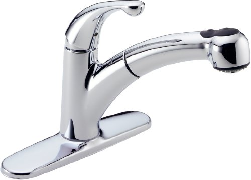 Delta 467 DST Palo Single Handle Pull Out Kitchen Faucet