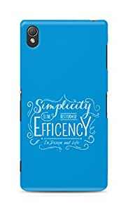 Amez Simplicity is the best form of Efficency Back Cover For Sony Xperia Z3