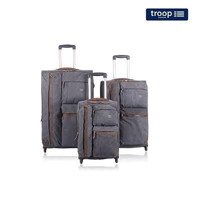 TR2011-2 Troop London Luggage 3pcs Set (Black)