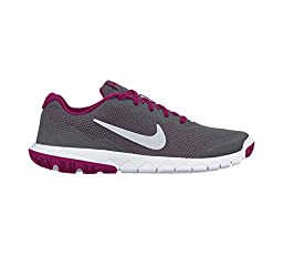 New Nike Girl\'s Flex Experience 4 Athletic Shoe Grey/Fuchsia 6