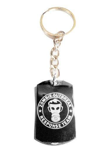 Zombie Outbreak Response Team Zort Z.o.r.t Gas Mask Logo Symbols - Metal Ring Key Chain Keychain