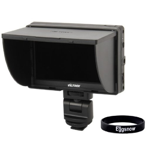 """Eggsnow Viltrox Clip-On Portable 5"""" Lcd Monitor With Hdmi Video Input With Standard + Sony Shoes - Black"""