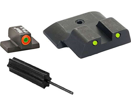Ameriglo Sw-447 Spartan Tactical All M&P Models (Except Shield), Operator 3 Dot Night Sight Set Green Proglo Front (Orange Outline) + Yellow Rear W Black Outlines + Ultimate Arms Gear Pro Disassembly 3/32 Pin Punch Armorers Gunsmith Tool