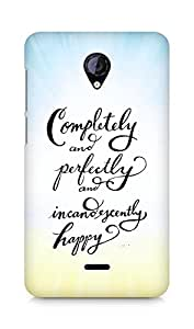 AMEZ completely and perfectly and incandescently happy Back Cover For Micromax Unite 2 A106