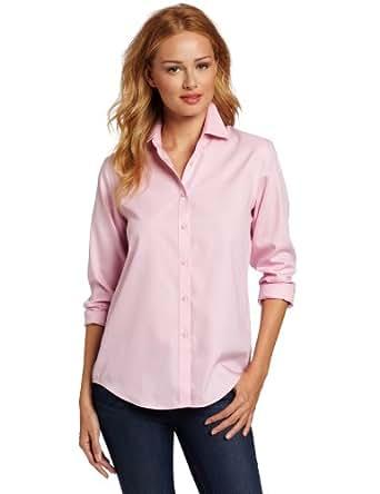 Jones new york women 39 s no iron easy care shirt pink rose for Jones new york no iron easy care boyfriend shirt