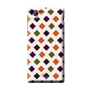 Garmor Check Design Plastic Back Cover For Sony Xperia J ST26i (Check - 7)