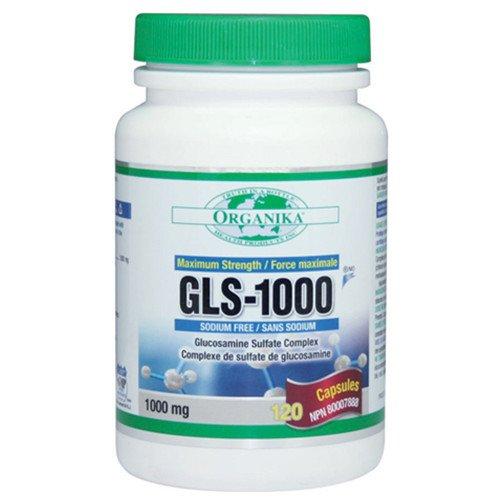 Organika Gls-1000, Sodium Free Glucosamine Sulfate Complex, 1000Mg, 120 Capsules