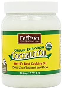 Nutiva Organic Extra Virgin Coconut Oil, 54-Ounce Containers (Pack of 2)
