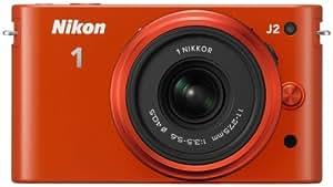 """Nikon J2 Appareil photo numérique hybride 10,1 Mpix Écran LCD 3"""" 2,7X Orange"""