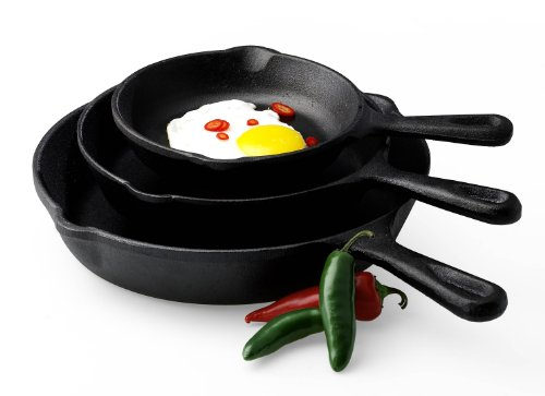 Basic Essentials 3-Piece Fry Pan Set (Iron Pan Set compare prices)