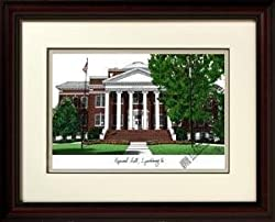 Lynchburg College Alma Mater Alma Mater 14x18 Lithograph in Mahogany Frame