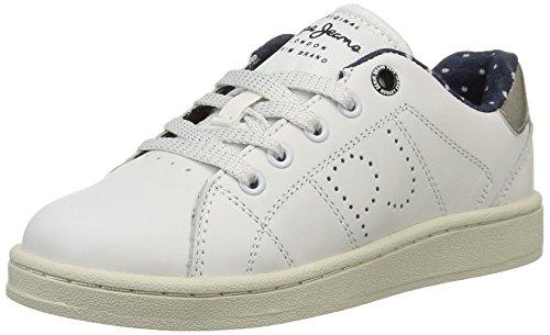 Pepe Jeans LANE GIRL, Low-Top Sneaker Ragazza, Bianco (Weiß (800WHITE)), 32