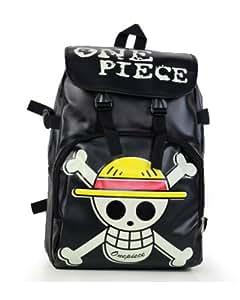 Anime One Piece Backpack Shoulder Bag Luffy Cosplay School Student/Skull Bag New Black
