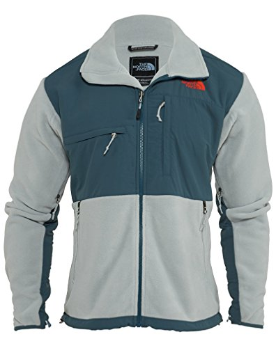 The North Face Denali Fleece Jacket - Men's Recycled High Rise Grey/Conquer Blue, XXL