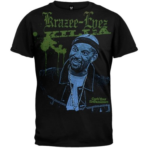 Old Glory Mens Curb Your Enthusiasm - Krazee-Eyez Killa Soft T-Shirt - 2X-Large Black