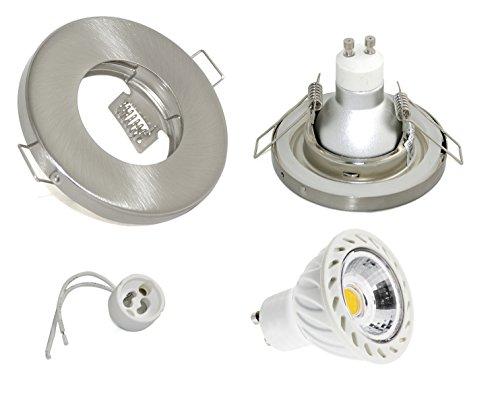 7W-Set-Einbaustrahler-IP65-Optik-Edelstahl-gebrstet-Bad-Dusche-Sauna-inkl-GU10-7Watt-LED-Leuchtmittel-3000Kelvin-warmwei-500Lumen-Leuchtmittel-austauschbar-Einbauleuchten-Edelstahl-lackiert-rostfrei