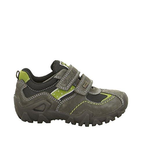 Salamander ragazzo max-tex impermeabile grigio/verde velcro Trainer, stile 33-18223, grigio (Grey/Green), Bambini 25=6 EU