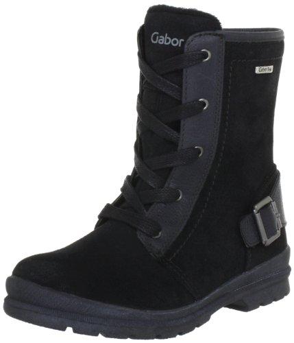 Gabor kids Victoria Boots Unisex-Child Black Schwarz (black) Size: 35