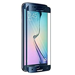 Creazy® Full Coverage Tempered Glass Film Protector for Samsung Galaxy S6 Edge Blue