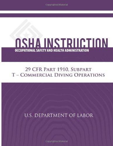 Osha Instruction: 29 Cfr Part 1910, Subpart T - Commercial Diving Operations