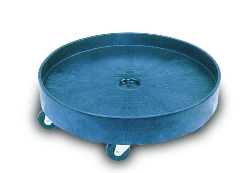 Rubbermaid Commercial Fg265000Bla Universal Drum Dolly For Container, 500 Lbs.