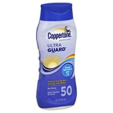 Coppertone Ultra Guard Sunscreen Lotion, Broad Spectrum SPF 50, 8 fl oz (237 ml)