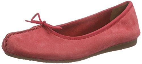 Clarks - Freckle Ice, Mocassino da donna, colore rosso (red nubuck), taglia 39.5