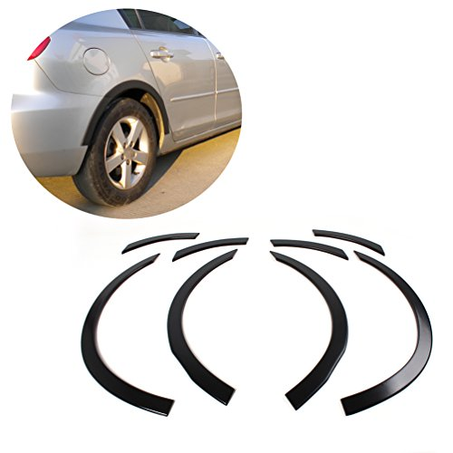 JCSPORTLINE Wheel Arch Cover Molding Fender Flares for Mazda 3 2006-2008 (8 PCS) (Body Kit Mazda 3 compare prices)