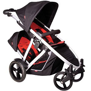 phil and teds doubles verve stroller in black red with free cocoon universal food. Black Bedroom Furniture Sets. Home Design Ideas