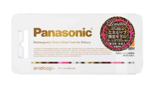 Panasonic eneloop tones glamorous限定モデル 充電式ニッケル水素電池 単3形 8本入り スタンダードモデル BK-3MCC/8GL