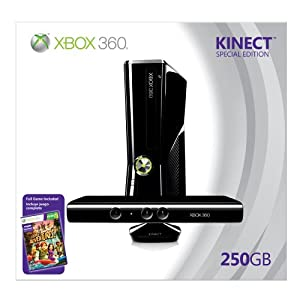 250gb Xbox 360 with Kinect and Kinect Adventures bundle