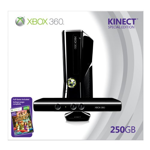 Xbox 360 250GB Console with Kinect (New Xbox 360 Slim Console compare prices)