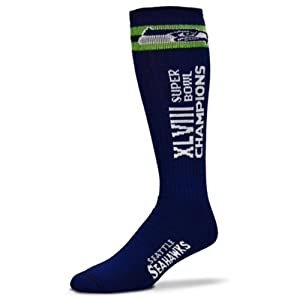 Buy For Bare Feet Unisex Seattle Seahawks Super Bowl XLVIII Champions Tube Socks Size Large by For Bare Feet