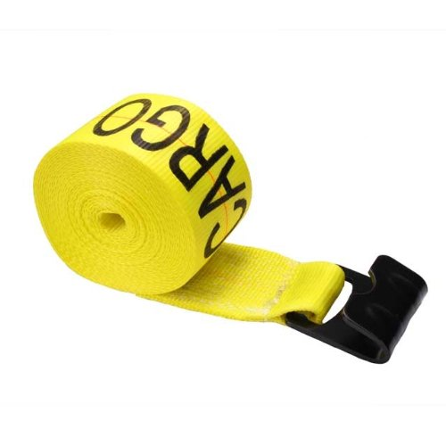 "Read About 4"" x 30' Winch Straps with Flat Hook & Defender"