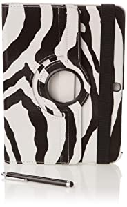 """Stuff4 MR-GT310.1-L360-PAT-ZEB-STY-SP Housse avec rotation à 360° pour Samsung Galaxy Tab 3 10,1"""" (P5200 / P5210) Film de protection et Stylet inclus Zébra"""