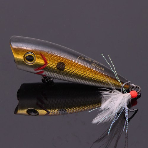 Today Sale 2 Pcs Topwater Chugger/Popper Fishing Lure for Bass & Trout with Matching Tail (3)  Best Offer