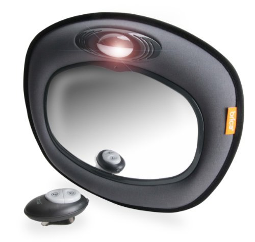 Brica Day & Night Light Musical Auto Mirror For In Car Safety, Grey Newborn, Kid, Child, Childern, Infant, Baby
