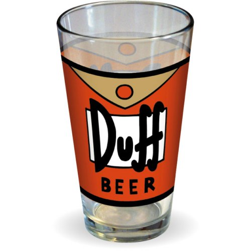 The Simpsons Duff Beer Pint Glass