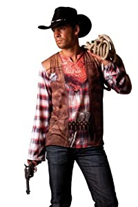 Cesar - B812-004 - Costume - Déguisement - T Shirt Illusion Cowboy - Taille 58