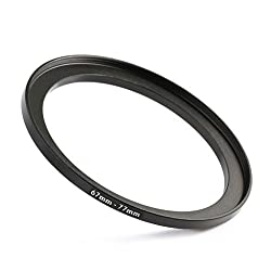 K&F Concept Metal Stepping Rings 67-77mm Step Up Filter Adapter Ring for Canon Nikon Camera